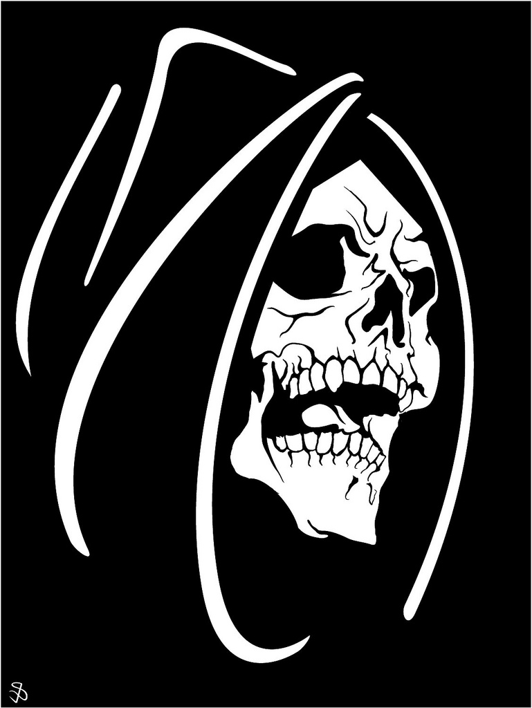 Death Face Vector Image