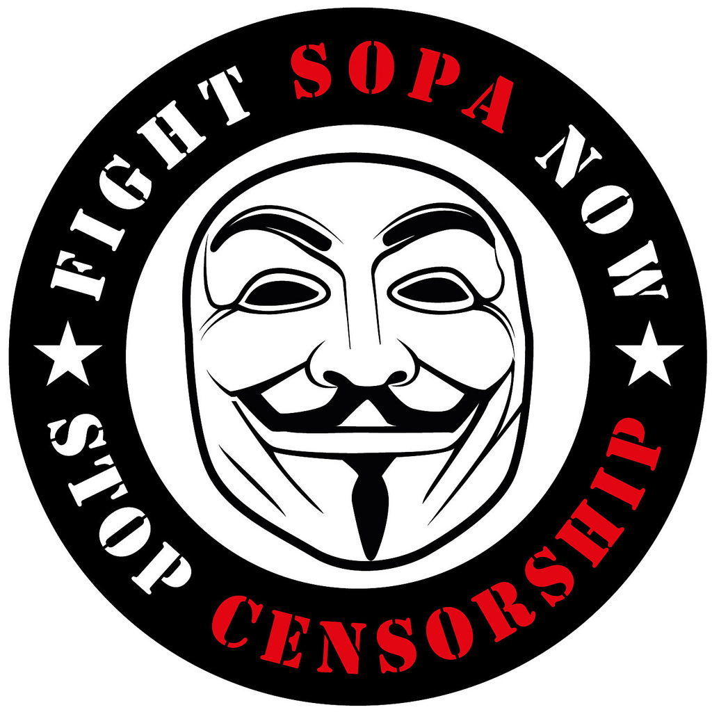 Fight Sopa Now Stop Censorship Sticker